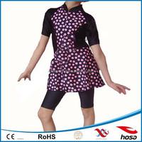 Polka dots kids swimwear model girls muslim swimwear