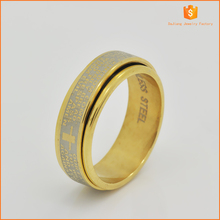 Fashion and high-quality with runner 18 k gold planted of stainless steel rings for man