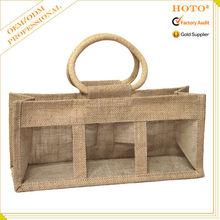 2015 fashion wholesale jute bag, jute bag with window, jute bag crafts