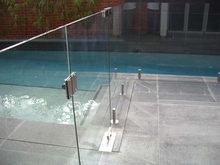 8mm10mm12mm tempered stainless steel pool fence glass with AS CE certificate