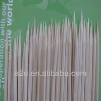 natural heart-shaped bamboo skewers