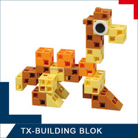 beautiful block set - plastic 3d brick toy