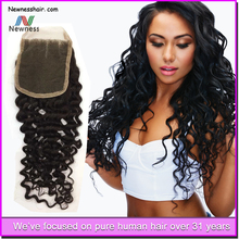 2015 hot sale and best price tangle free and shedding free long lasting virgin brazilian hair closure