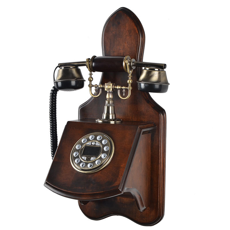 antique wooden phone home decorative wall mounted telephone corded buy corded telephone wall. Black Bedroom Furniture Sets. Home Design Ideas