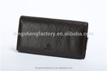 Travel Use Ostrich Pattern Genuine Leather Zipper Men's Wallet Different Colors Available