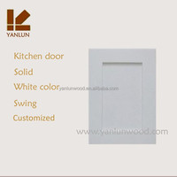 white color prefinished solid oak cheap wood kitchen door