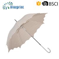 Unique Design Ladies Walking Long Shaft Elegant Stick Umbrella