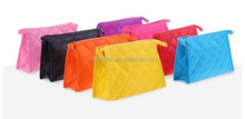 Hot factory rhombuse grid lady cosmetic bag travel wash bag journey cosmetic bag