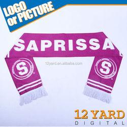 Soccer club sport reversible scarf& sport wear shawl& polyester printed scarf