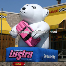 Giant inflatable bear for advertising