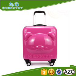 new lovely cartoon luggage for kids luggage with 4 wheels