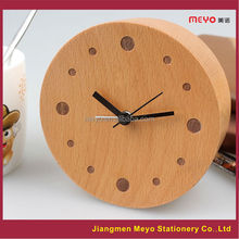 Logo Custom Home Decorative 2015 Wooden Desktop Clock