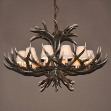 AC-129 Rustic Deer Faux antler chandelier Light Large deer antler decor