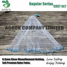 Nylon Monofilament American Style Drawstring Cast Net Fishing net hand casting net