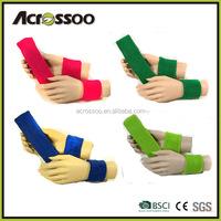 Promotional cheap plain cotton cloth knitting sports wristband and sweatband