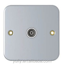 HOT selling one/two gang co-Axial &satellite TV socket