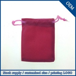 Wholesale High Quality 9x12 cm Custom Drawstring Velvet Dust Bag