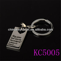 hot sale metal tiger keychain for gift for present