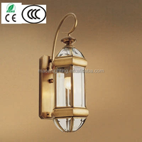 European beautiful and cheap brass outdoor wall lights