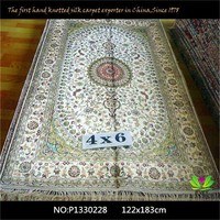 chinese Hand Woven supper Quality nanyang silk carpet 122x183cm floor coverings braun luxury persian carpet
