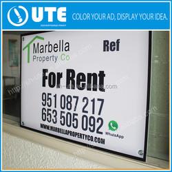 print Photographs of pvc Advertising Signs, acrylic board signs, yard signs