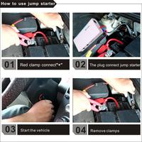 Vehicle tools12000mah car jump starter , multifunction portable 12v/19v/24v battery charger