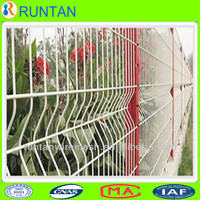 white iron wire fence for boundary wall
