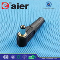 Daier Black Plastic 2.1mm DC2.1-M1Waterproof DC Power Jack/DC Connector Jack/Electrical Plug