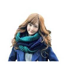 1pc new fashion double color korean style beautiful spandex material lovely scarf women loops neck warmers