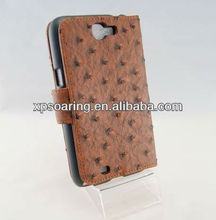 brown wallet leather case for Samsung Galaxy Note II N7100