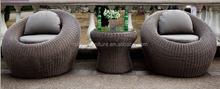Most stylish round Wicker rattan miami outdoor sofa cover