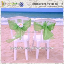 Woven Printed Ruffle organza chair cover chair sashes for wedding and banquet