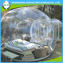 Hot sale inflatable pvc clear igloo inflatable camp bed