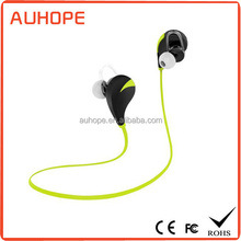 New fashion design high quality sweat-proof ultralight bluetooth sports earphone for mobiles