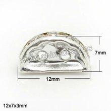 caliente de diamante de imitación de la moda cuentas media ronda de diamantes de imitación de cristal bola de cuentas