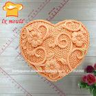 Forma de coração de decoração do bolo, decoração do bolo de ferramentas, coração forma de moldes de silicone