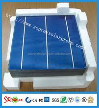Grade A 156x156mm polycrystalline silicon solar cells cheap price
