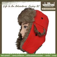 TA3-038True Adventure2015 Warm Winter Custom Tree Hunting Trapper Hat with faux fur