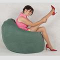 Redonda moderna exterior perezoso sofá pelotita, sentado relleno de espuma impermeable silla del bolso de haba