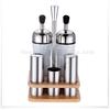 Stainless Steel oil vinegar set/ salt and pepper set with toothpick holder