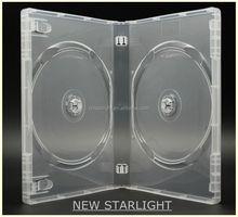 22 mm single/double 2-6dis transparent plastic CD/DVD case
