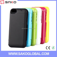 Best 4200mah Slim Portable Protective Backup Portable Leather power case Extended, cover power case for iphone 5 5C 5S