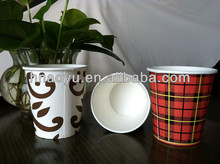 China supplier take away flexo logo printed disposable cups coffee paper cups
