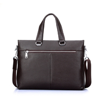 On sale! Cow leather surface ripple lightweight briefcases leather bag, business laptop bag