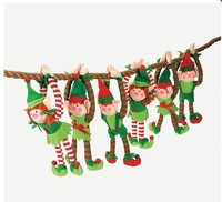 DELUXE PLUSH hanging CHRISTMAS toys ELFS - TREE DECORATIONS-Christmas toys