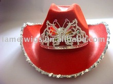 Fashion led nonwoven cowboy hats PHU-1299