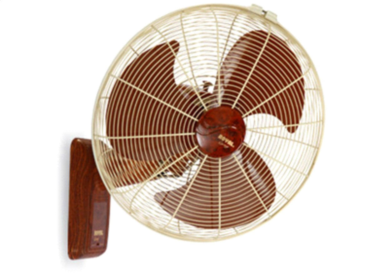Brackets For Wall Mount Oscillating Fans : Quot oak wood wall mounted oscillating plastic