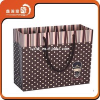 2015 Top quality fashion customized smart paper shopping bag