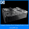 Plastic Compartment Tray, Clear Customized Plastic Vacuum Formed Tray