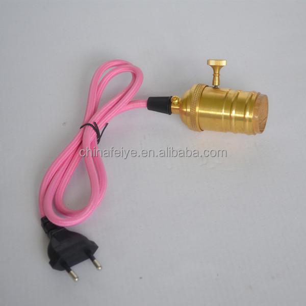 I cavi di tessuto colorato/pendente bottiglia lampada/rame ...